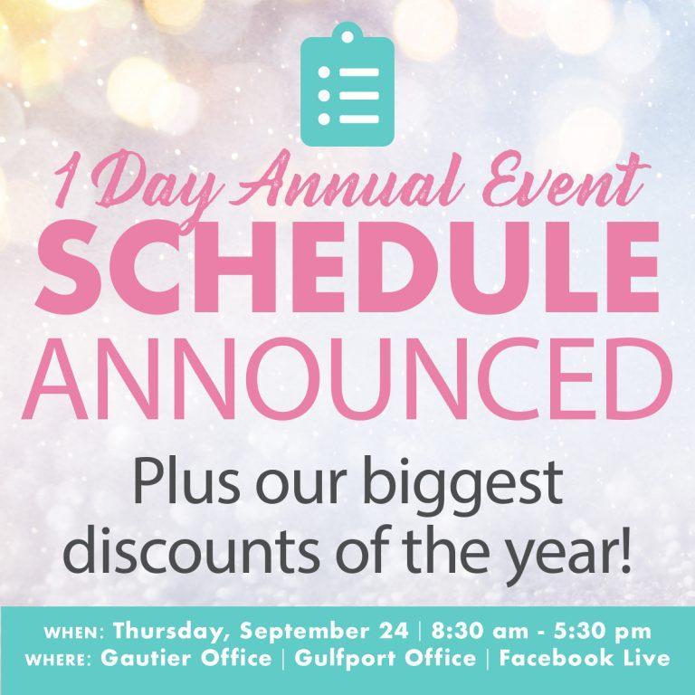 1 Day Event Schedule