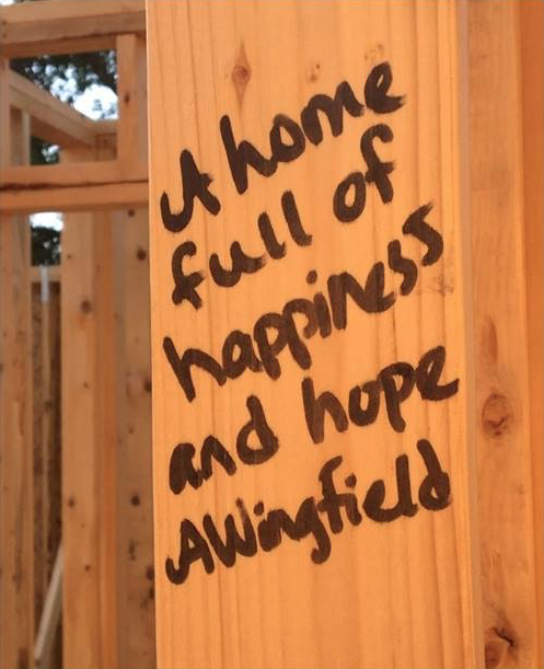 A home full of happiness and hope